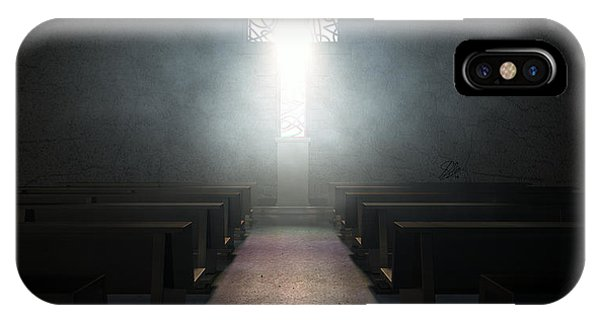 Worship iPhone Case - Stained Glass Window Crucifix Church by Allan Swart