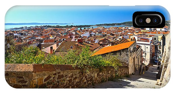stairway and ancient walls in Carloforte IPhone Case