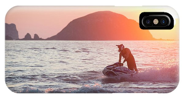Jet Ski iPhone Case - Stand Up Jet Ski Rider  Sessioning by Marcos Ferro