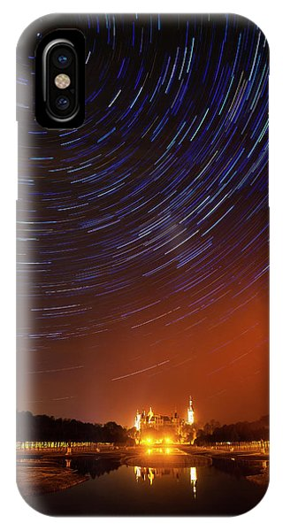 Star Trails Over Schwerin Palace IPhone Case
