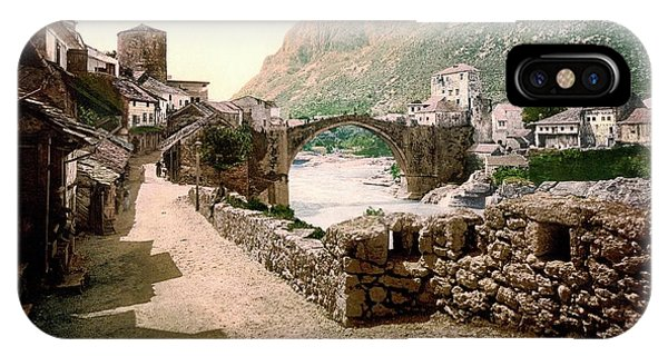 Mostar iPhone Case - Stari Most by Library Of Congress/science Photo Library