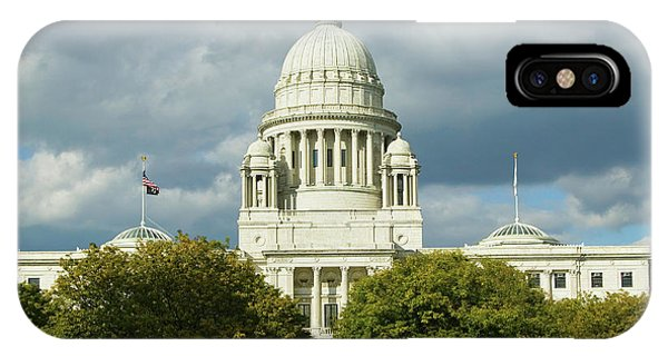 Capitol Building iPhone Case - State Capital Building Of Providence by Panoramic Images