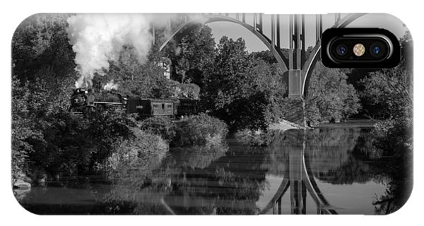 Steam In The Valley Nkp 765 Black And White IPhone Case