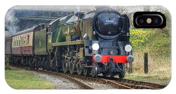 Steam Locomotive 34046 Braunton IPhone Case