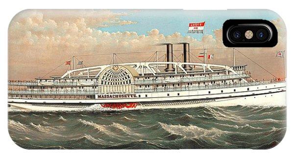 Steamship Massachusetts IPhone Case