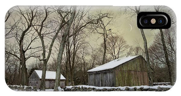 New England Barn iPhone Case - Still by Robin-Lee Vieira