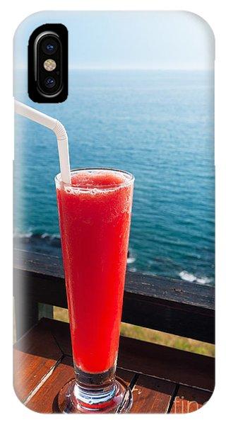 Smoothie iPhone Case - Strawberry Smoothie Soda by Atiketta Sangasaeng
