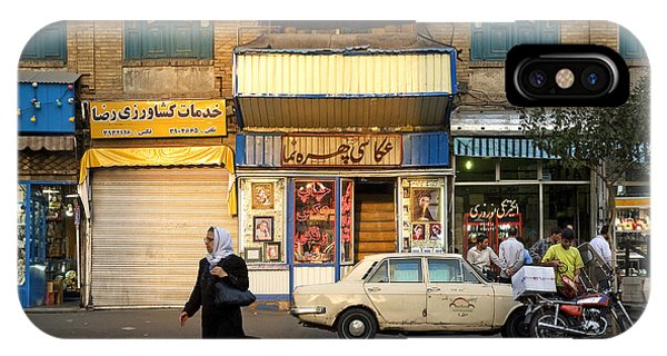 Street Scene In Teheran Iran IPhone Case