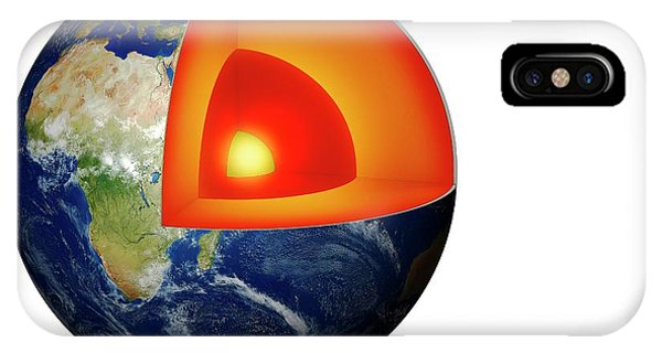 Cutout iPhone Case - Structure Of The Earth by Mikkel Juul Jensen