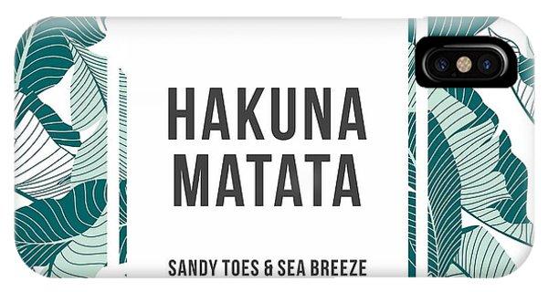 Hawaiian iPhone Case - Summer Text Palm by Matthew-rk