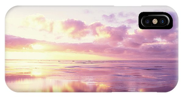 Sunrise On Beach, North Sea, Germany IPhone Case