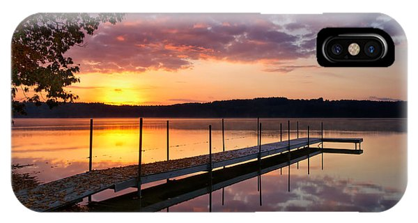 Sunrise On Keoka Lake IPhone Case