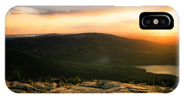 Sunset Acadia National Park Maine IPhone Case