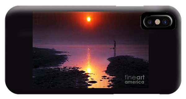 Sunset At Ganga River In The Planes Of Provinces IPhone Case