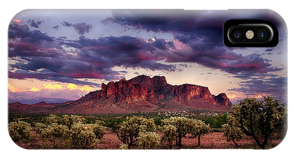 Sunset At The Superstitions  IPhone Case