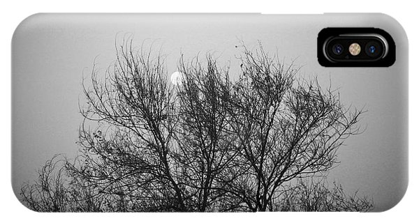 Sunset In Black And White IPhone Case