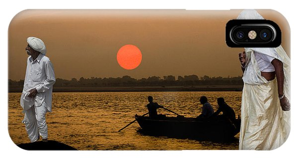 Sunset On Ganges IPhone Case