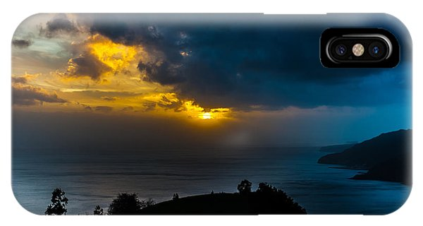 Sunset Over Blue IPhone Case