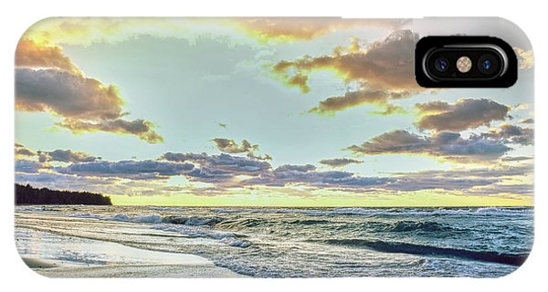 Lake Superior iPhone Case - Sunset Over Lake Superior, Keweenaw by Panoramic Images
