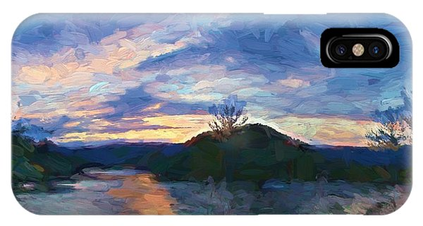 Sunset Pano - Watauga Lake IPhone Case