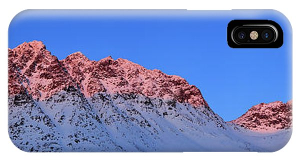Sunset Shines On Snow Covered Rugged IPhone Case