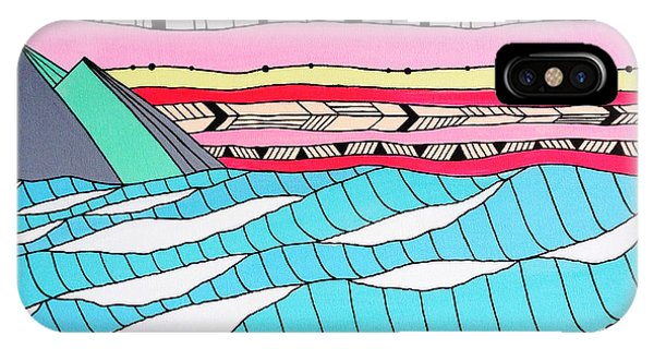 Tidal iPhone Case - Sunset Surf by MGL Meiklejohn Graphics Licensing