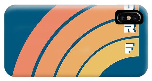 Clothing iPhone Case - Surf Typography, T-shirt Graphics by Lakoka