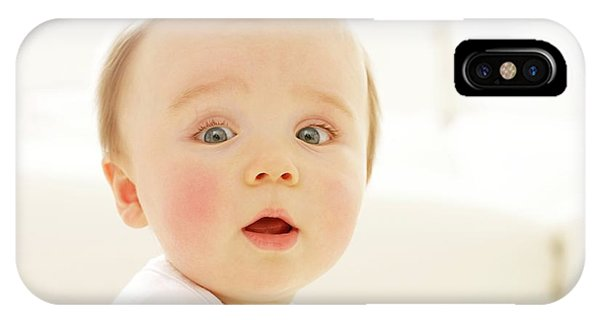 Human Interest iPhone Case - Surprised Baby Boy by Ruth Jenkinson/science Photo Library
