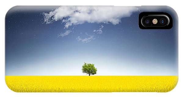 Agriculture iPhone Case - Surreal Canola Field by Bess Hamiti