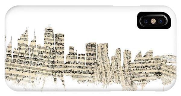 Sydney Australia Skyline Sheet Music Cityscape IPhone Case