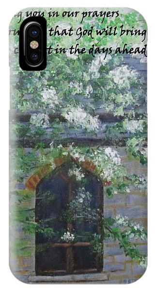 Sympathy Card With Church IPhone Case
