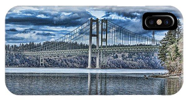 Tacoma Narrows Bridge IPhone Case