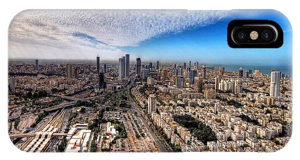 Tel Aviv Skyline IPhone Case