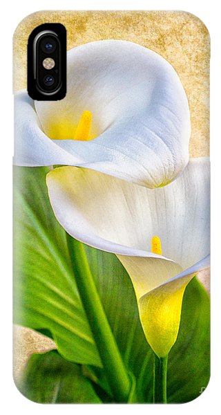 Textured Calla Lilies IPhone Case