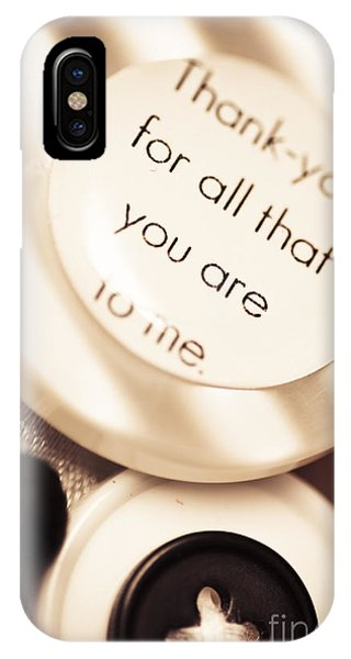 Thank You Wedding Buttons. Low Dof Macro IPhone Case