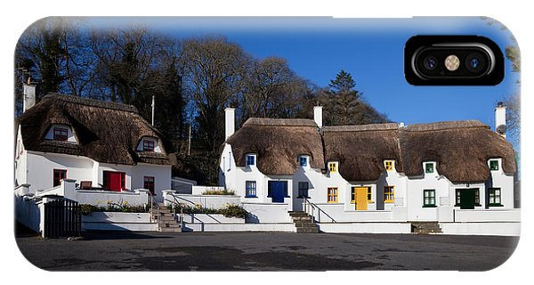 Dunmore East iPhone Case - Thatched Cottages Near Dunmore Strand by Panoramic Images