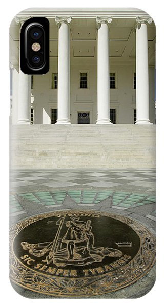 Capitol Building iPhone Case - The 2007 Restored Virginia State by Panoramic Images