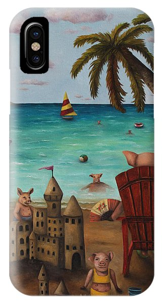 Jet Ski iPhone X Case - The Bacon Shortage by Leah Saulnier The Painting Maniac