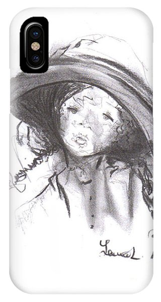 IPhone Case featuring the drawing The Bonnet by Laurie Lundquist