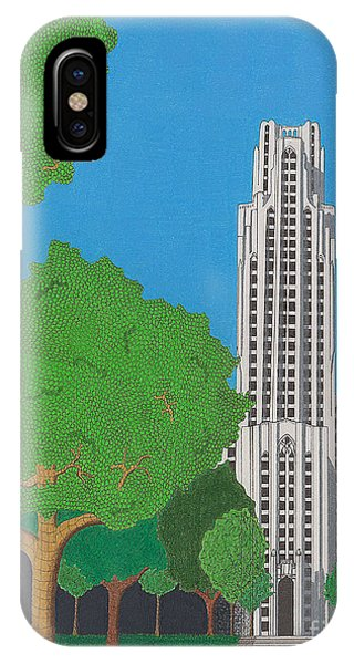 The Cathedral Of Learning IPhone Case