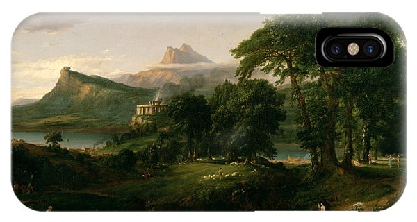 The Course Of Empire The Arcadian Or Pastoral State IPhone Case