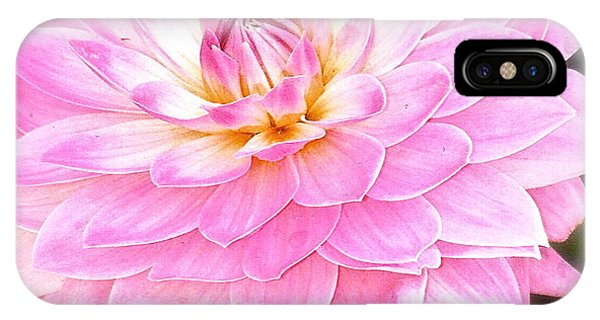 The Vivid Pink Dahlia IPhone Case