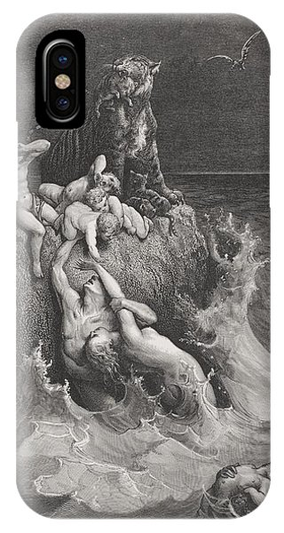 Flooded iPhone Case - The Deluge by Gustave Dore