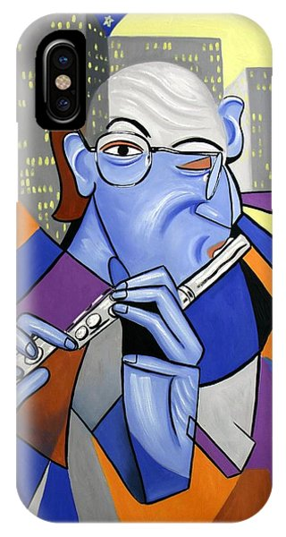 IPhone Case featuring the painting The Flutist by Anthony Falbo