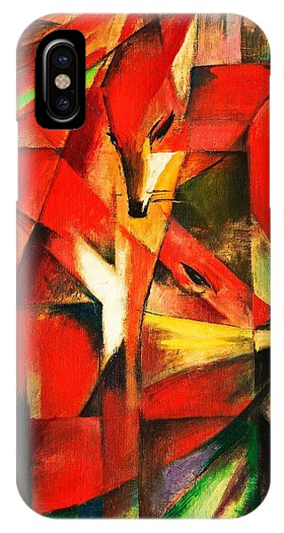 IPhone Case featuring the painting The Foxes by Franz Marc