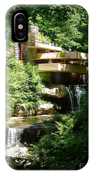 The Frank Lloyd Wright Falling Waters Architectural Masterpiece In Penn. IPhone Case