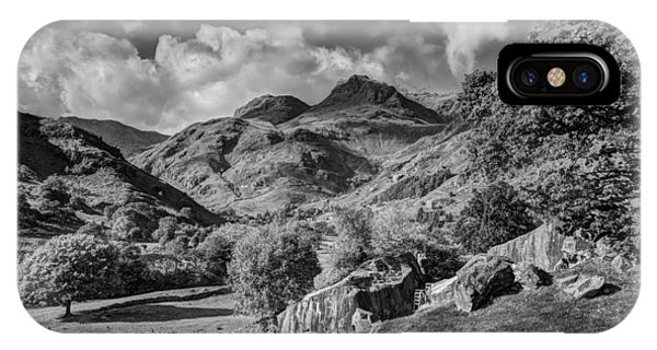 The Langdale Pikes From Copt Howe Phone Case by Graham Moore