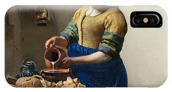 The Milkmaid Phone Case by Johannes Vermeer