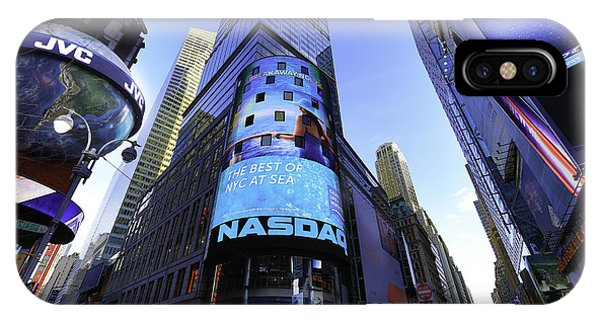 The Nasdaq Stock Market Phone Case by E Osmanoglu