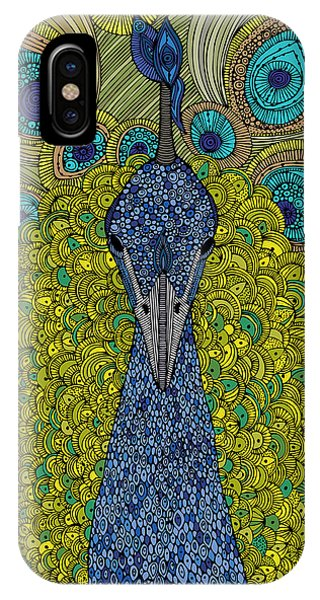 Contemporary Floral iPhone Case - The Peacock by Valentina Ramos